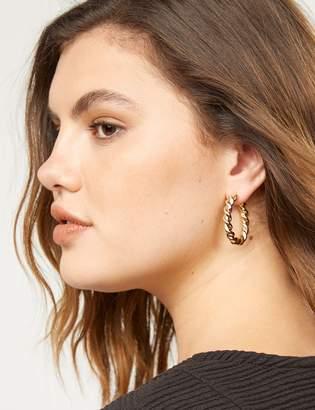 Lane Bryant Textural Hoop Earrings