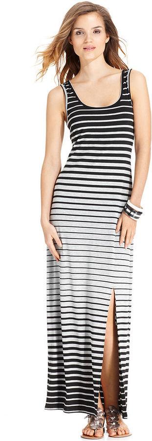 Amy Byer Dress, Sleeveless Striped Maxi