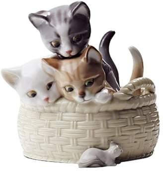Lladro Curious Kittens Figurine