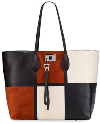 Salvatore Ferragamo The Studio Patchwork Tote Bag