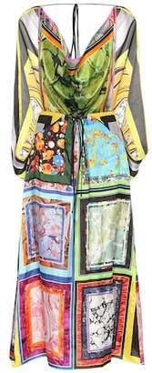 Rosie Assoulin Cape printed midi dress
