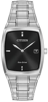 Citizen Men's Eco-Drive Stainless Tonneau Bracelet Watch, 44mm