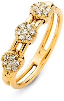 Hulchi Belluni 18K Yellow Gold Tresore Diamond Ring