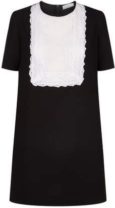 Sandro Lace Panel Mini Dress