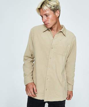rhythm Cord Long Sleeve Shirt Natural