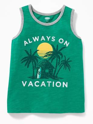 "Old Navy ""Always On Vacation"" Tank for Toddler Boys"