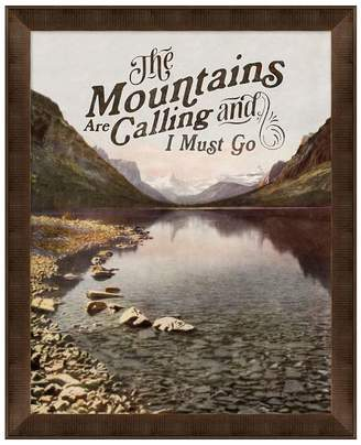 Pottery Barn The Mountains Are Calling Print
