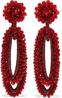 Bibi Marini - Bell Bead And Silk Earrings - Red