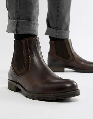 Jack and Jones Leather Chelsea Boot