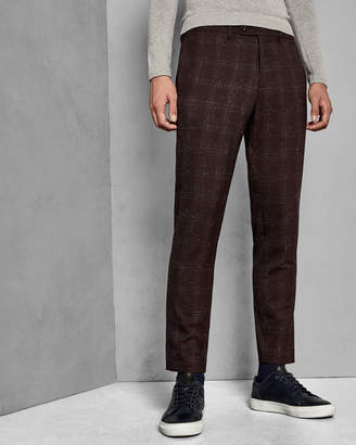 Ted Baker DDARTRO Checked boucle wool suit trousers