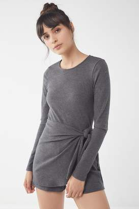 Urban Outfitters Gloria Ribbed Knit Skort Romper