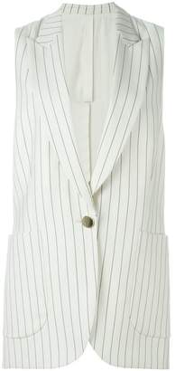 Petar Petrov striped sleeveless jacket