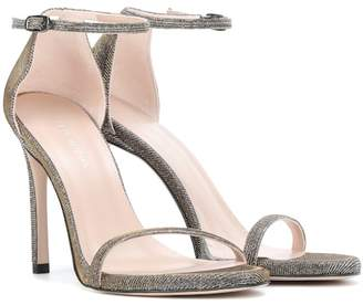 Stuart Weitzman Nudistsong metallic sandals