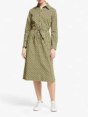 People Tree V&A Cosmic Shirt Dress, Green Multi