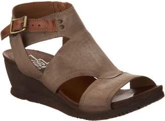 Miz Mooz Leather Side Zip Wedge Sandals - Scout