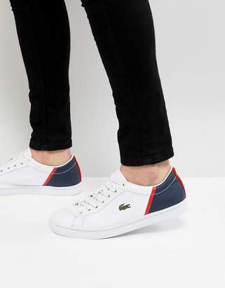 Lacoste Straightset Sport Sneakers In White