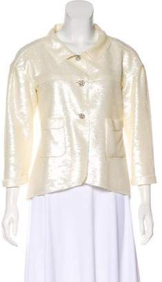 Chanel Sequin Button-Up Jacket