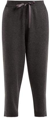Allude Ribbon Drawstring Cropped Trousers - Womens - Grey