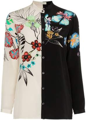Etro two-tone floral print shirt