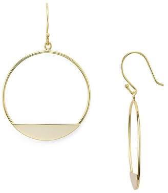 Aqua Sterling Silver Circle Drop Earrings - 100% Exclusive