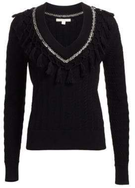 Wool Metal Tassel Sweater
