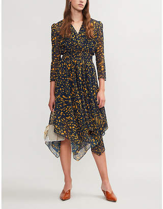 Maje Rayem dot-printed woven dress
