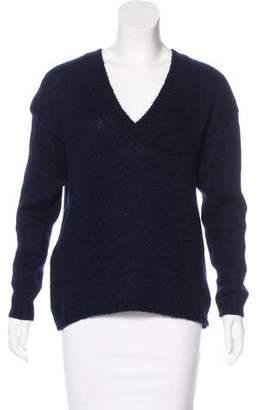 Tibi Long Sleeve V-Neck Sweater