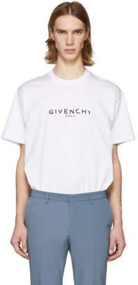 Givenchy White Vintage Logo T-Shirt