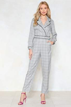 Nasty Gal Tailor to Your Needs Check Jumpsuit
