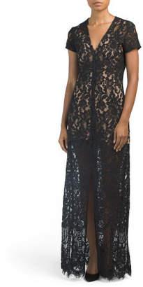 Savona Slit Front Lace Maxi Dress