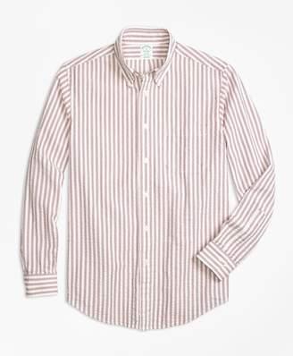 Brooks Brothers Milano Fit Triple Stripe Seersucker Sport Shirt