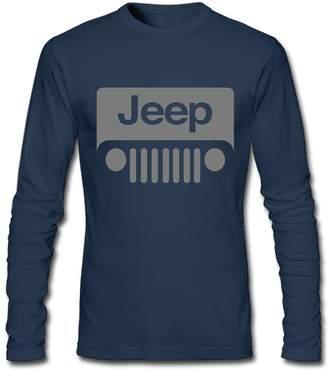 Wrangler KAOMAOXI Fun Tee Jeep Grey Logo Male Crewneck Long Sleeve Tee