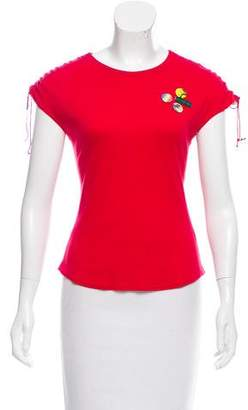 Chloé Embellished Cap Sleeve Top