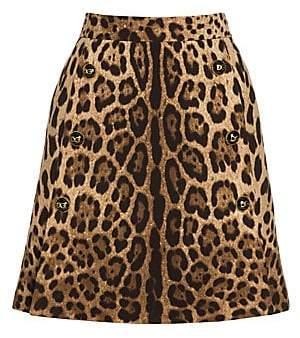 Dolce & Gabbana Women's Leopard Print Skirt