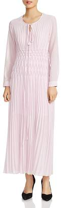 Maje Rocket Pleated Maxi Dress