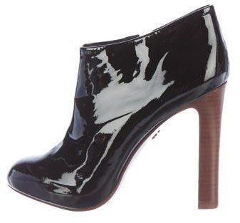 Tory BurchTory Burch Patent Leather Round-Toe Booties