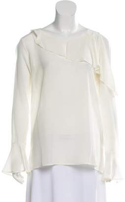 Gold Hawk Silk Asymmetrical Top