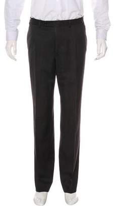 Canali Flat Front Wool Pants