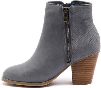 Django & Juliette Roby Navy Boots Womens Shoes Casual Ankle Boots
