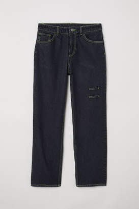 H&M Straight Relaxed Jeans - Black