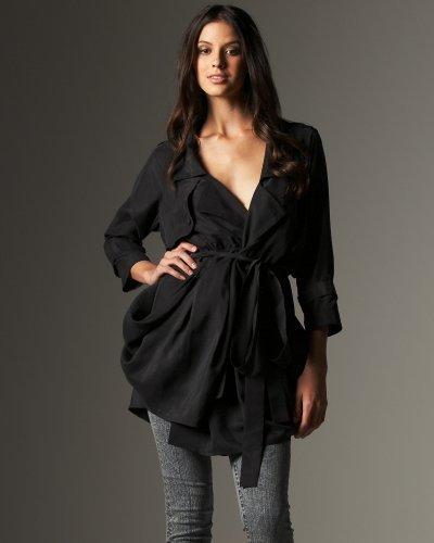 Silk Trench Coat by Tara Subkoff