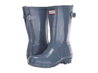 Hunter Back Adjustable Short Gloss Rain Boots
