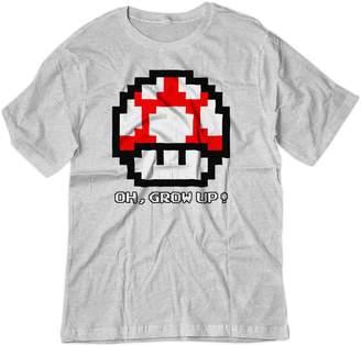 Ash BSW YOUTH Oh, Grow Up! Super Mario Bros Super Mushroom 8-bit Shirt LRG Grey