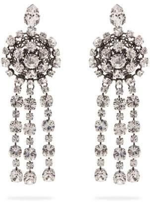 Gucci Crystal Drop Earrings - Womens - Crystal