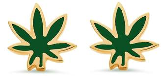 Established Cannabis Leaf Stud Earrings