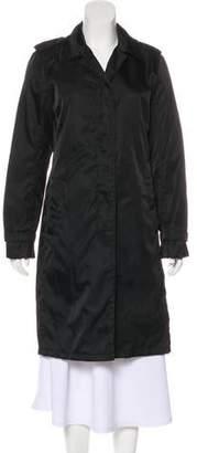 Prada Button-Up Knee-Length Coat