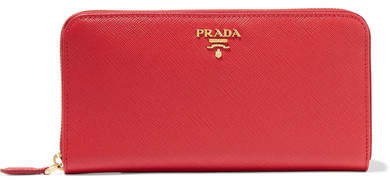 prada Prada - Textured-leather Continental Wallet - one size