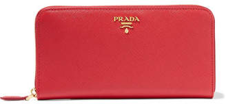 Prada - Textured-leather Continental Wallet - one size $680 thestylecure.com