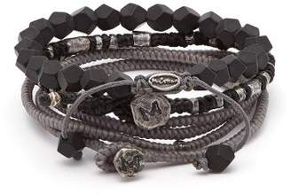 M. Cohen The Create Stack Ii Beaded Silver Bracelet - Mens - Silver Multi