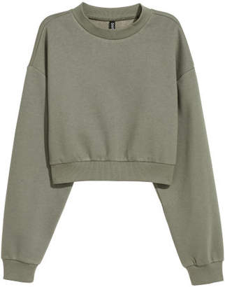 H&M Mock Turtleneck Sweatshirt - Green